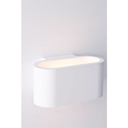 Wandlamp gips ovaal up down 180mm breed G9 fitting