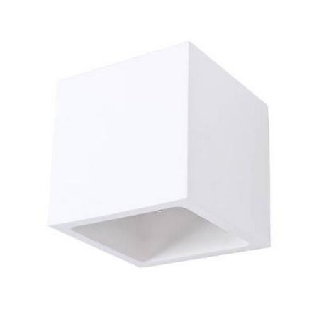 Wall light plaster square up down 115mm wide with G9