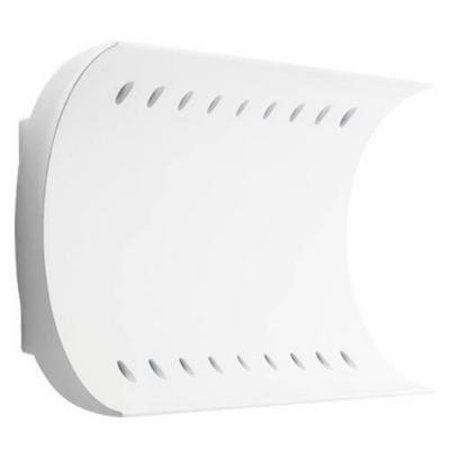 Wall light design curve white with 51W LED + 12W LED