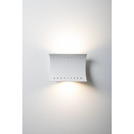 Applique murale design courbe blanche 51W LED + 12W LED