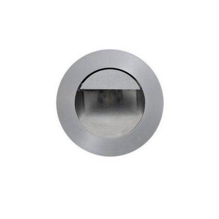Wandlamp inbouw LED grijs rond diameter 92mm 1W