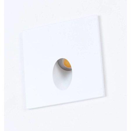 Wandlamp inbouw vierkant design LED 65mm breed 3,3W