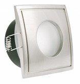 Downlight IP65 square 82mm wide for GU10 spot