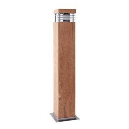 Lampadaire exterieur bois 600mm haut 100mm large E27