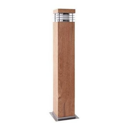 Tuinpaal hout 600mm H 100mm breed voor E27 fitting