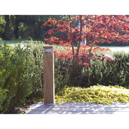 Bollard light wood 600mm high 100mm wide for E27 fitting