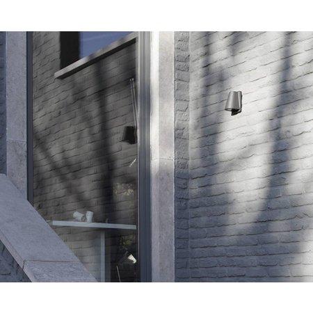 Outdoor wall light fixture black, anthracite 155mm H GU10