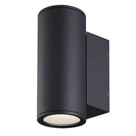 Wandlamp buiten LED up down grijs of antraciet 220 2x12W