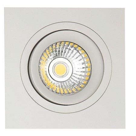 Downlight blanc carré trou 80mm taille extérieur 93,7 mm
