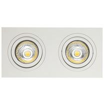 Double spot encastrable blanc trou 80-175mm dimension extérieure 95-190 mm
