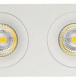 Dubbele inbouwspot wit  gatmaat 80-175mm buitenmaat 95-190 mm