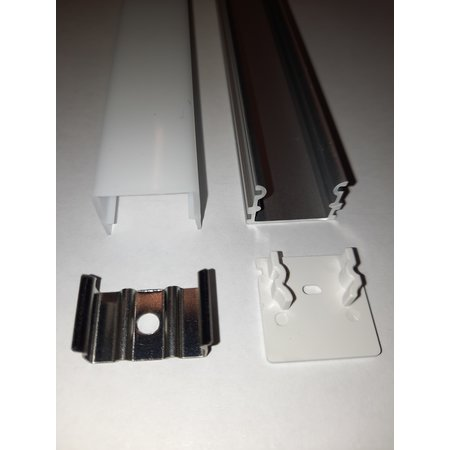 LED profile surface-mounted 21 mm high 21 mm wide with light on 3 sides of the profile