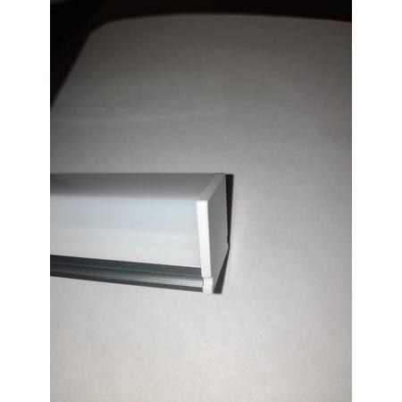 Profilé LED en saillie 21 mm de hauteur 21 mm de largeur avec éclairage sur 3 côtés du profilé