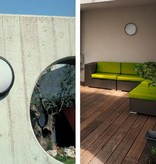 Outdoor ceiling light E27 round white or black 270mm Ø