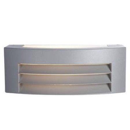 Wandlamp buiten inbouw zilver 285mm breed E27