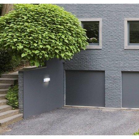 Applique murale exterieure encastrable argent 285mm E27