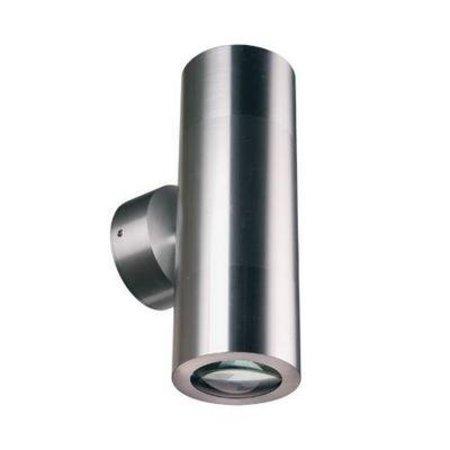 Wandlamp buiten up down 196mm hoog 2xGU10 aluminium