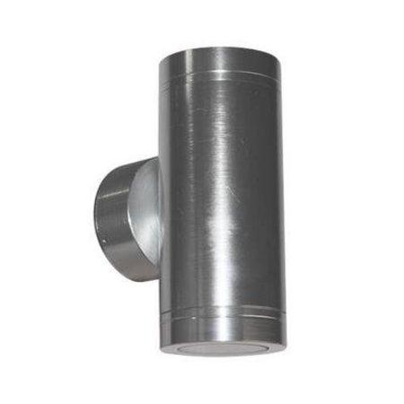 Wandlamp buiten LED up & down 143m H 2x4W aluminium