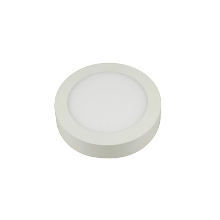 Surface mount dimmable LED panel 12W round