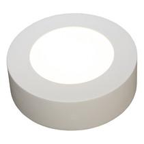 Plafonnier dimmable 6W rond avec bord noir ou blanc