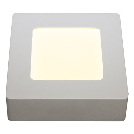 Dimbare plafondlamp vierkant led wit zwart 120x120mm 6W