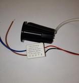 Petit spot encastré LED noir ou blanc 30mm 3W IP44 imperméable