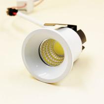 Petit spot encastré LED noir ou blanc 30mm 3W IP44
