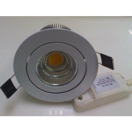 Inbouwspot LED 5W richtbaar grijs of wit 30°/40°/60°/90°