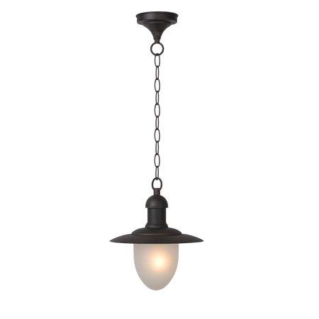Lampe d'extérieur rustique à suspendre avec verre noir ou rouille E27