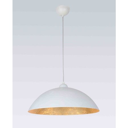 Hanglamp wit goud E27 470mm diameter