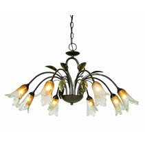 Pendant light antique ruggine color 8xG9 28W included