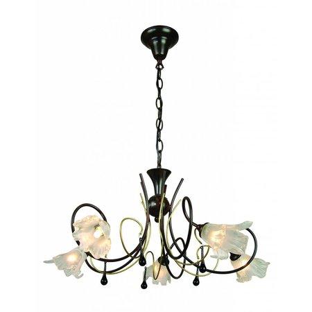 Hanglamp zwart goud antiek met 5xG9 28W inbegrepen