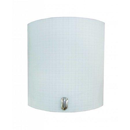 Wall light white E27 220mm high