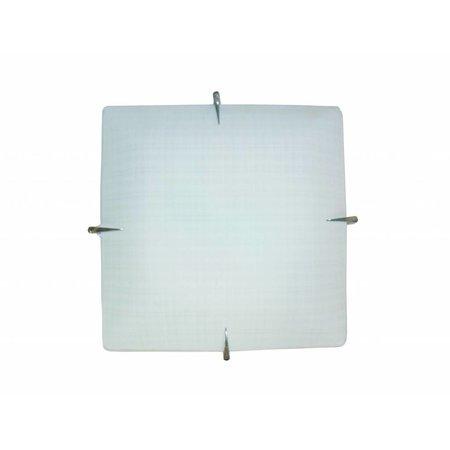 Wandlamp wit vierkant E27 400mmx400mm