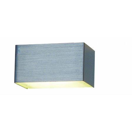 Wandlamp LED wit, aluminium of geborsteld staal G9 2,6W 140mm breed