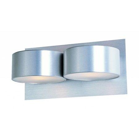 Wandlamp LED grijs G9 2x2,6W 160mm breed