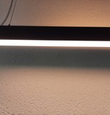 Hanglamp boven bureau up down LED 48W wit, zwart