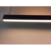 Suspension bureau haut et bas LED 48W blanc, noir