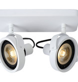 Plafondspot LED zwart of wit AR111 2x12W dim to warm