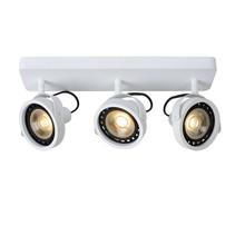 Plafondspot LED zwart of wit AR111 3x12W dim to warm