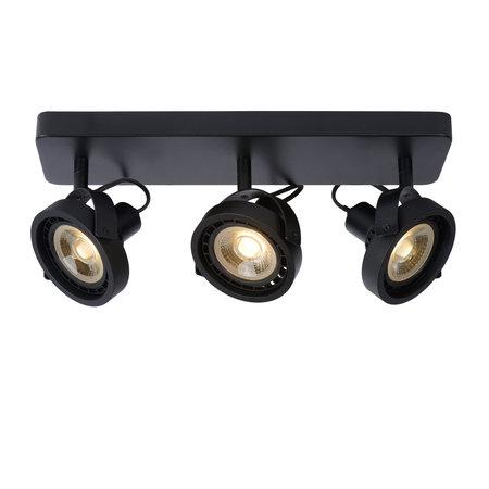 Ceiling light LED black or white AR111 3x12W dim to warm