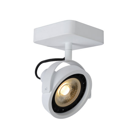 Ceiling light LED black or white AR111 1x12W dim to warm