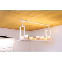 Lampe à suspension Authentage avec bougies blanc rural, bronze 12 x LED 125 cm