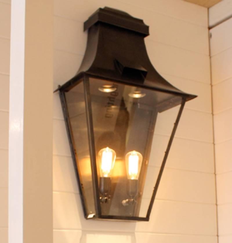 Outdoor Wall Light Lantern Rustic Gu10