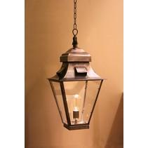 Luminaire suspendu rustique lanterne bronze, nickel 60cm