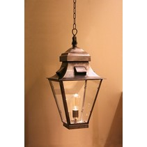 Pendant light lantern rustic bronze, nickel 60cm design