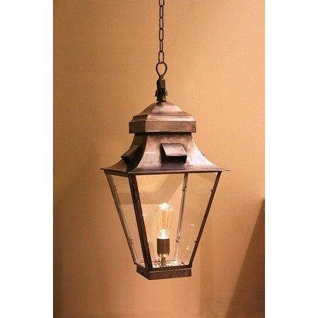 Hanglamp lantaarn messing landelijk 60cm brons, nikkel