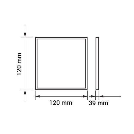Dalle LED plafond carrée apparente 6W 120x120mm blanche