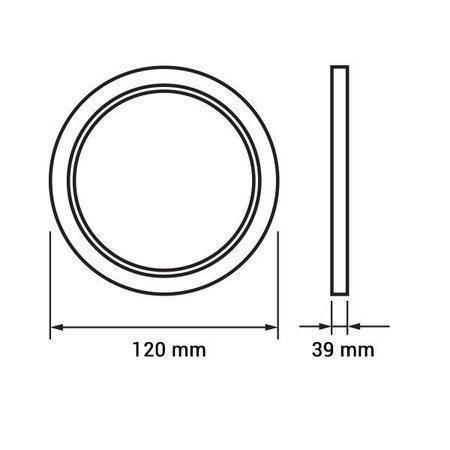 Dalle LED plafond ronde apparente 6W 120mm diamètre