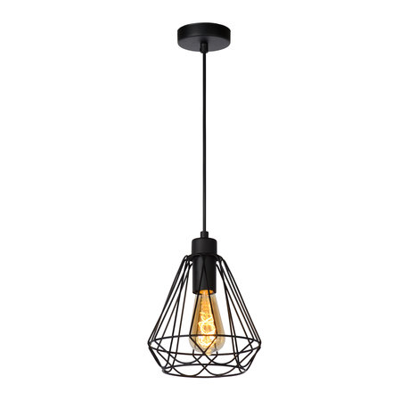 Hanglamp draad wit of zwart 20cm of 32cm Ø E27